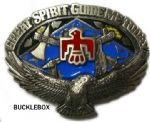 Great Spirit Guide Me Today Belt Buckle with display stand. Code KH6